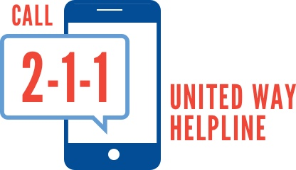 Call 2-1-1 United Way Helpline